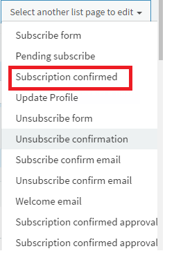 Redirectsub-subscriptionconfirm