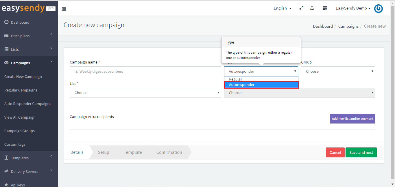 Tag Email Subscribers Based on Email Campaign Clicks_create new campaign