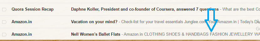 email pre-header