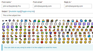 subject-line-emoji in email marketing campaign