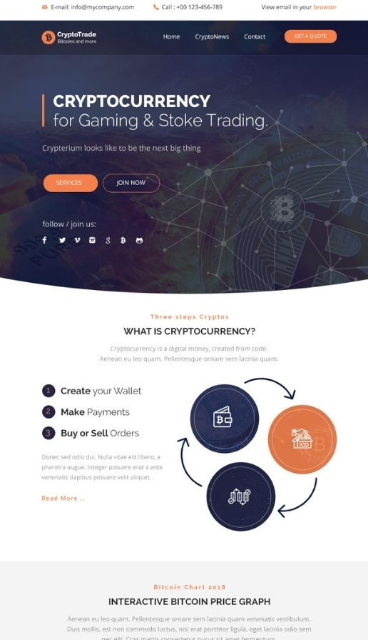 easysendy email template crypto