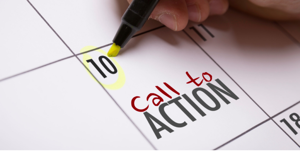 Include call-to-action button to encourage the readers
