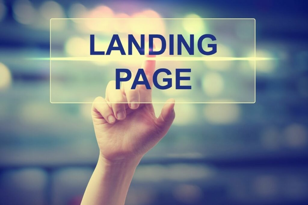 landing page for email campaign